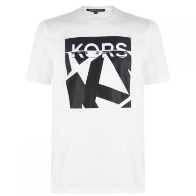 マイケル コース Michael Kors メンズ Tシャツ トップス Block T Shirt White