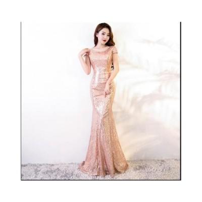 ワンピース キラキラ ロングドレス 演奏会ドレス ウェディングドレス 二次会 花嫁ドレス イブニングドレス 可愛い 着痩せ お呼ばれ きれいめ レディースドレス