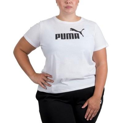 プーマ カットソー トップス レディース Plus Size Logo Crewneck T-Shirt Puma White