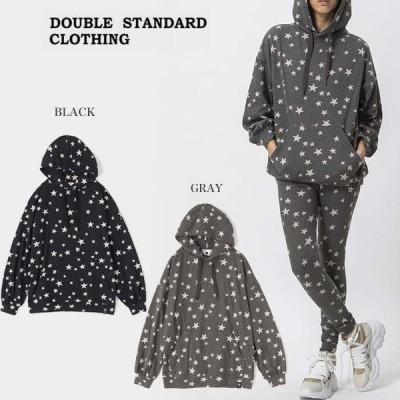 SALE40%OFF DOUBLE STANDARD CLOTHING ダブルスタンダードクロージング 通販 DSC / ふくれジャカードSTARロングフーディ 0208-250-203