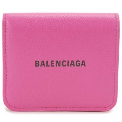 バレンシアガ BALENCIAGA 二つ折り財布 レディース ピンク 594216 1IZ43 5660 コンパクト 財布