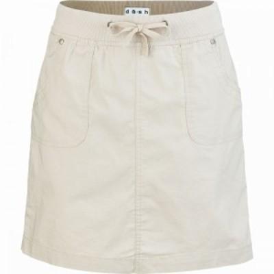 ダッシュ da-sh レディース ミニスカート スコート スカート Sharon Solid Skort Sandstone