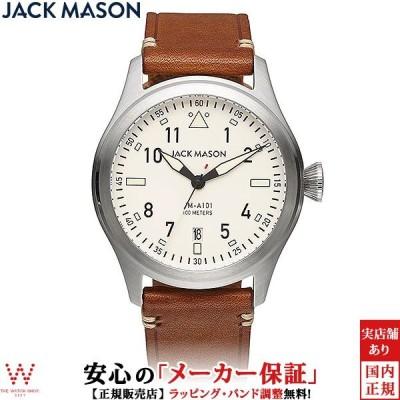 ジャックメイソン 腕時計 メンズ JACK MASON アヴィエーション AVIATION JM-A101-201 日付 カレンダー クォーツ 革ベルト