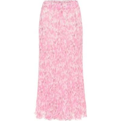 ガニー Ganni レディース ひざ丈スカート スカート Floral georgette midi skirt Sweet Lilac