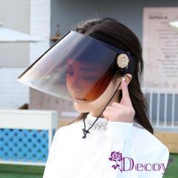 【Decoy】夏日必備*加大防曬防風防疫遮陽帽/黑