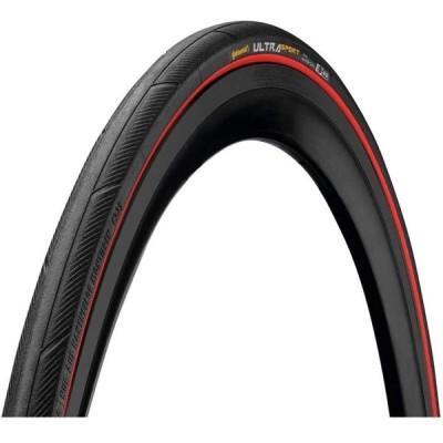 Continental Ultra Sport III 700x25 ブラック/レッド 折りたたみ PureGrip