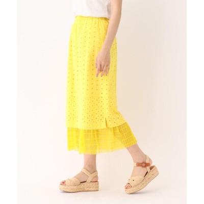 aquagirl(アクアガール) MUVEIL コットンレースチュール切り替えスカート