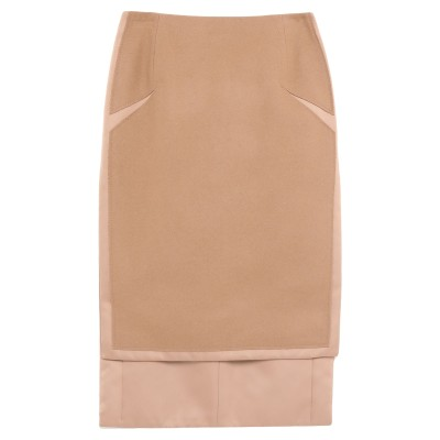 ヌメロ ヴェントゥーノ N°21 ひざ丈スカート ベージュ 40 ポリエステル 100% / ウール / ナイロン ひざ丈スカート