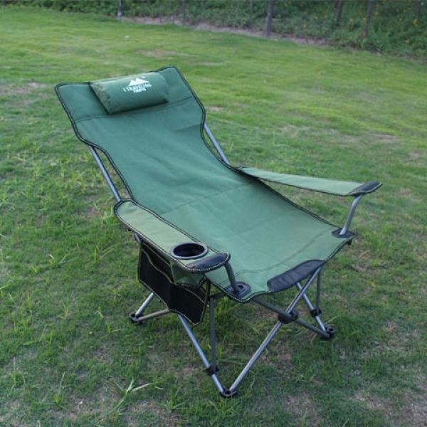 戶外折疊椅釣魚椅便攜坐躺兩用躺椅午休床露營沙灘椅多功能躺椅凳