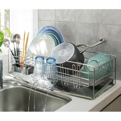 キッチン 家電 キッチン収納 水切り 水切りかご ラック オールステンレス製 シンクに渡せる水切り レギュラー 581106