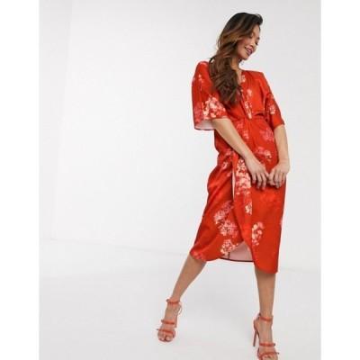 ホープ&アイビー レディース ワンピース トップス Hope & Ivy kimono midi dress in floral