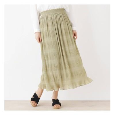 【シューラルー/SHOO・LA・RUE】 【M-LL】プリーツロングスカート