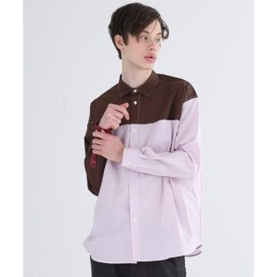 シャツ ブラウス 【DISCOVERED】STUDIOUS限定パネルシャツ