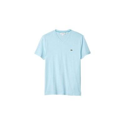 ラコステ V-Neck Stripe T-Shirt メンズ シャツ トップス Cicer/White