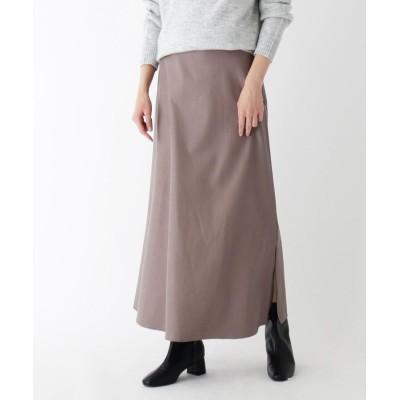 SOUP(スープ) 【大きいサイズあり・13号】フェイクレザークロスサイドスリットスカート