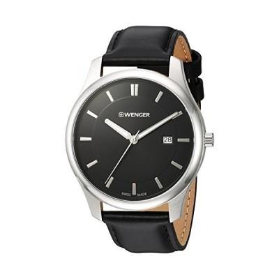 腕時計 ウェンガー スイス 01.1441.101 Wenger Men's City Classic Stainless Steel Swiss-Quartz Watch w