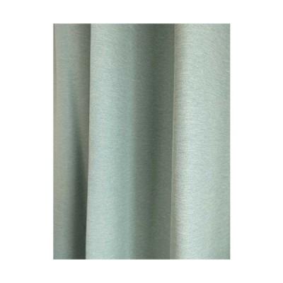 省エネ 断熱 遮光 無地ドレープカーテン (ブルー, 幅100cmX丈135cm 2枚入り)