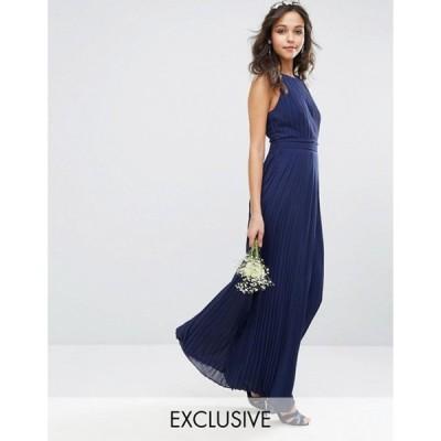 ティエフエヌシー レディース ワンピース トップス TFNC bridesmaid exclusive high neck pleated maxi dress