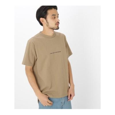 ベース コントロール BASE CONTROL 反転 ロゴ プリント 半袖 Tシャツ (ベージュ)