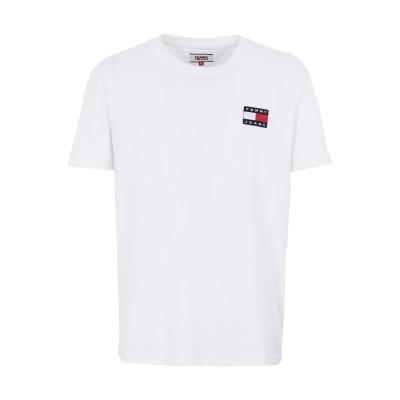 TOMMY JEANS T シャツ ホワイト S コットン 100% T シャツ