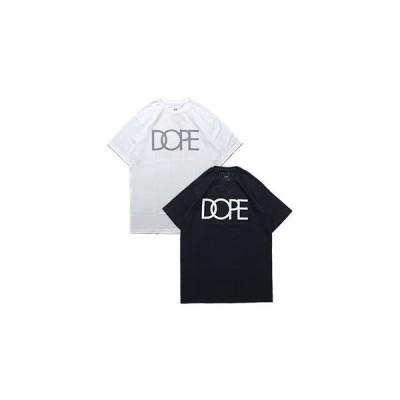 ドープ DOPE リフレクティブ ロゴ Tシャツ メンズ M-XL ブラック/ホワイト 半袖 カットソー プリント CLASSIC REFLECTIVE LOGO TEE -2.COLOR-