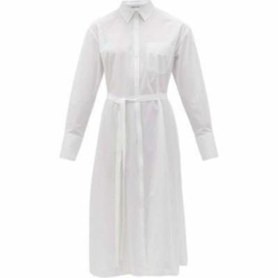 アナザー トゥモロー Another Tomorrow レディース ワンピース シャツワンピース ワンピース・ドレス Belted organic cotton-poplin shir