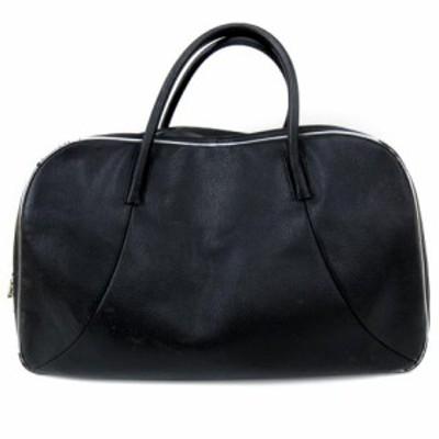 【中古】エルイーディーバイツ L.E.D.BITES バッグ ボストン レザー 旅行 大容量 二層 黒 ブラック 鞄 FK  メンズ