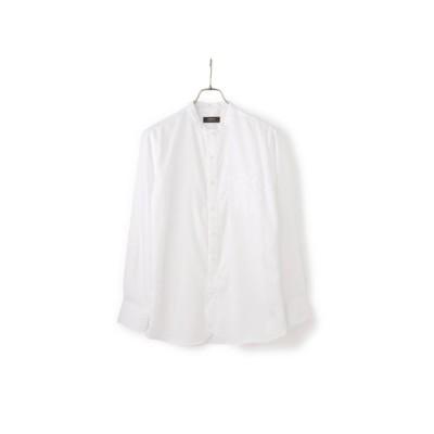 オールシーズン用 ホワイト系 ツイルバンドカラーシャツ CHRISTIAN ORANI BROWN LABEL