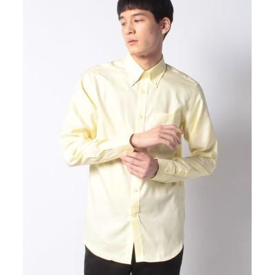 【コムサイズム】 《イージーケア・抗菌防臭加工》 オックス ボタンダウンカラーシャツ メンズ イエロー S COMME CA ISM