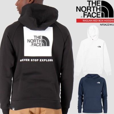 ノースフェイス フーディー パーカー THE NORTH FACE RAGLAN RED BOX HOODIE NF0A2ZWU プルオーバー スウェット フードロゴ パーカー[ZRC]