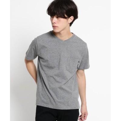 BASE STATION/ベースステーション Tシャツ メンズ Vネック WEB限定 ブラック系(015) 01(S)