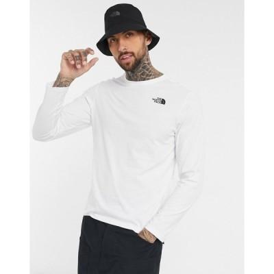 ノースフェイス メンズ Tシャツ トップス The North Face red box camo long sleeve t-shirt in white white/hawthorn/khaki
