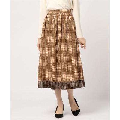 スカート ミニキカプリントギャザースカート