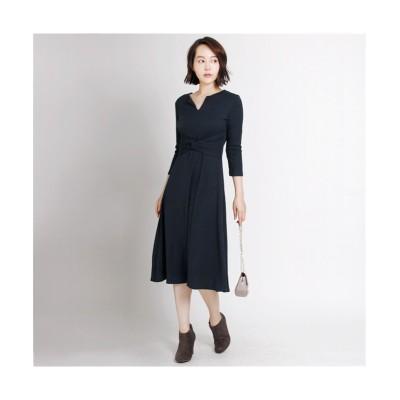 MARTHA(マーサ) ウェストツイストリブジャージーワンピース (ワンピース)Dress