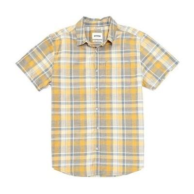 プラーナ メンズ シャツ トップス Groveland Recycled Materials Short-Sleeve Woven Shirt