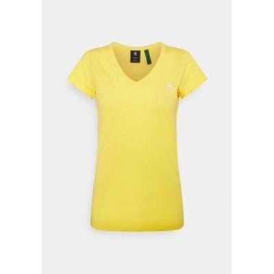 ジースター レディース Tシャツ トップス EYBEN SLIM - Basic T-shirt - bright yellow bright yellow