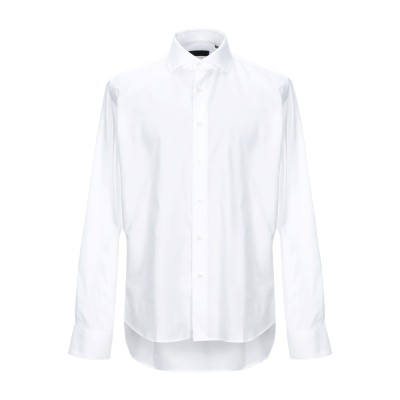 TRU TRUSSARDI シャツ ホワイト 42 コットン 100% シャツ