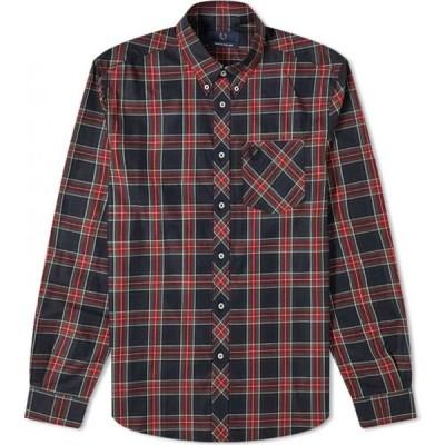 フレッドペリー Fred Perry Authentic メンズ シャツ トップス fred perry reissues made in england tartan shirt Black