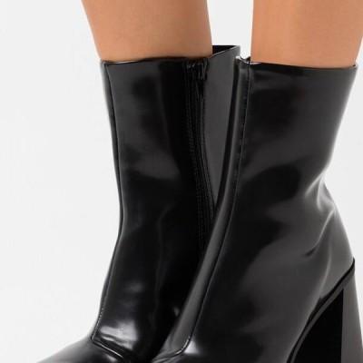 レディース ブーツ VEGAN ROBBIE BOOT - High heeled ankle boots - black dark