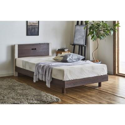 ベッド 安い すのこ バイカラー ツートンカラー LED ライト コンセント 傷に強い 3D強化シート お買い得