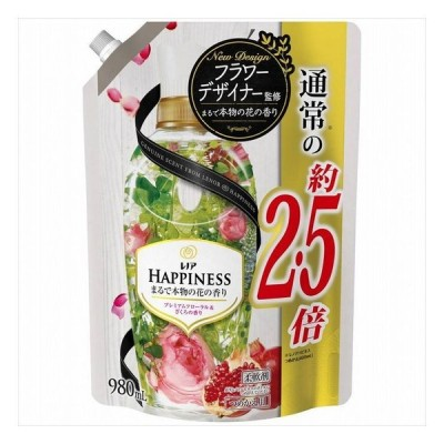 3個セット P&Gジャパン レノアハピネナチュラルフレグランス プレミアムフローラル&ざくろの香りつめかえ用特大サイズ 日用品 代引不可