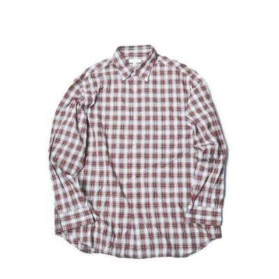 BEAUTY&YOUTH UNITED ARROWS ビューティーアンドユース タータンチェックビッグシャツ L 1211-149-7302 レッド ボタンダウン