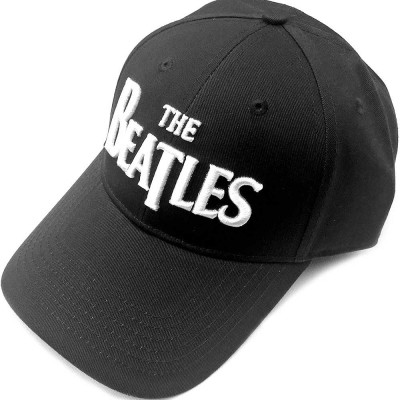 BEATLES ビートルズ (来日55周年記念 ) - DROP T LOGO(刺繍/ブラック) / キャップ / メンズ 【公式 / オフィシャル】