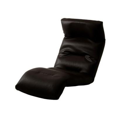 セルタン 日本製 座椅子 和楽の雲 PVC/A193下R-597BK ブラック/下タイプ