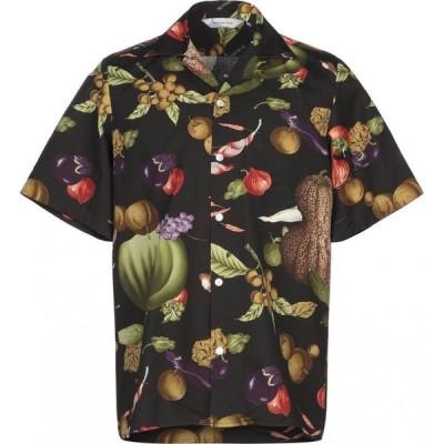 ニポアロハ NIPOALOHA メンズ シャツ トップス patterned shirt Black