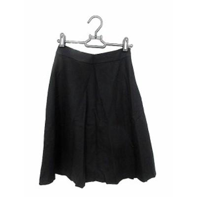【中古】ナチュラルビューティーベーシック NATURAL BEAUTY BASIC スカート フレア ミモレ ロング XS 黒 ブラック /AAM