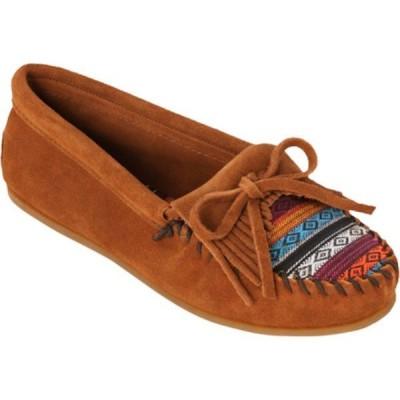 ミネトンカ Minnetonka レディース シューズ・靴 ドライビングシューズ Kilty Hardsole Driving Moc Brown/Arizona Fabric