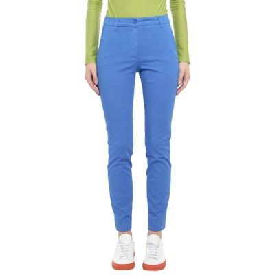 BRUNO MANETTI パンツ ブルー 40 コットン 85% / エラストマルチエステル 12% / ポリウレタン 3% パンツ
