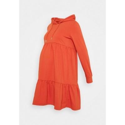 ママリシャス ワンピース レディース トップス MLJOANNE SHORT DRESS - Jersey dress - chili