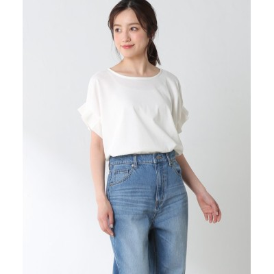 (Honeys/ハニーズ)袖タックTシャツ/レディース ホワイト